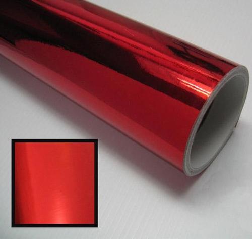 Vinil cromado tipo espejo rojo 1 x 1 5 metros autos motos for Espejo 2 metros