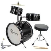 Tamaño De Los Niños Del Drum Set Negro Completo Junior Niños