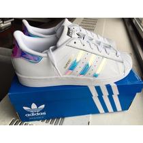 Adidas Superstar Iridescent Originales $1645 Woman Tornasol