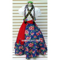 Vestido Disfraz Adelita Falda Blusa Rebozo Carrilleras Niñas