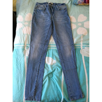 Pantalón Jeans Mezclilla Zara 32 Entubado Strech Jegings