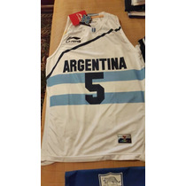 Jersey Seleccion Argentina De Basquet Manu Ginobili Talla Xl