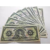 Billete Cinco Pesos De La Gitana Condicion Usado