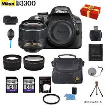 Nikon D3300 + 18-55mm +2 Lentes + 12 Accesorios + Regalo