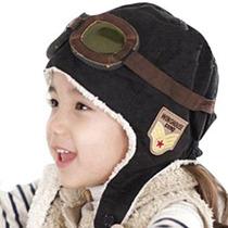 Feliz Will Piloto Aviador Fleece Hat Cap Caliente Con Orejer