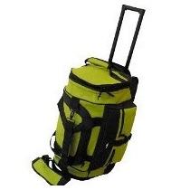 Wallis - Travel Bag, Maleta De Viaje Verde/negro Con Ruedas