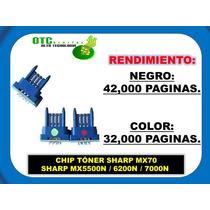 Chip Toner Sharp Mx70 Mx5500n 6200n 7000n (b/c/m/y) Vbf