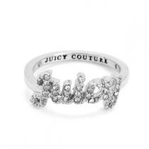 Hermoso Anillo Plateado Juicy Couture 100% Original Talla 7