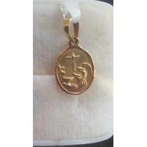 Medalla Para Bautizo En Oro 18 K
