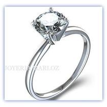 Anillos Compromiso Diamante Natural .20ct Gh-vs1 14kt