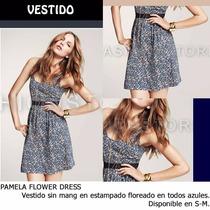 *fashionstore* Pamela Blue Dress. Vestido Corto Estampado