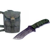 Combo Cuchillo Tipo Militar Acabado Vintage M9271 Y Piernera