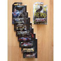 Set 8 Hot Wheels Pelicula Batman Vs Superman Completa !!!
