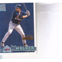 2000 Pacific Paramount Platinum Blue Todd Walker Twins /99