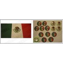 Fiestas Patrias 14 Prendedores Y Bandera Mx De Regalo -usado
