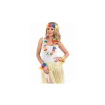 Disfraz Hawaiano - Colorido Conjunto Lei Hawaiin Fantasía