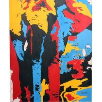 Pintura, oleo, Abstracto, cuadro, Animal , Arte, Elefante