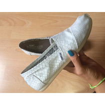 Padrisimos Zapatos Toms Luxury Leather Blancos 100% Original