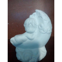 Recuerdos Niña Luna Yeso Ceramico Blanco Pintar Paq. 30 Pzas