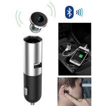 Cargador Portatil Usb Auto Con Manos Libres Bluetooth