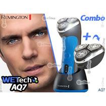 Combo Rasuradora Recargable + Navajas Extras Remington Agua
