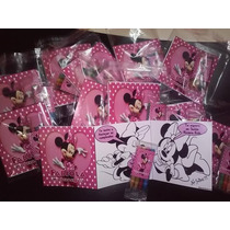 12 Invitaciones Minnie Mouse Para Colorear
