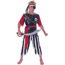 Oferta Unica! Disfraz De Pirata Para Niños Talla 8-10