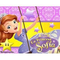 Kit Imprimible Princesa Sofia De Disney Diseña Tarjetas Mas