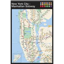 Metro De Nueva York Cartel - Manhattan Mapa Maxi 61x91.5cm