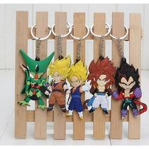 Set Llaveros Pvc Dragon Ball Z Gokú Vegeta Súper Saiyajin