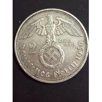 Moneda Plata Alemania 2 Marks De 1939 Nazi Coin Silver