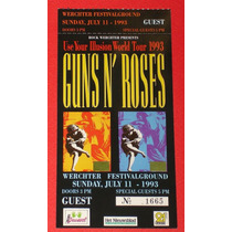 Guns N Roses Boleto De Coleccion Use Your Illusion 1993 Mn4