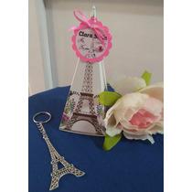 10 Llaveros De Torre Eiffel, Incluye Caja Y Tarjeta.