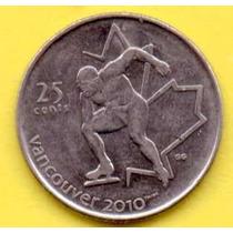 25 Centavos Dollar 2009 Canada Olimpiada Vacouver Patinaje