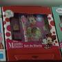 Fiesta Minnie Mouse Set De Diario Con Estampas Y Sellos