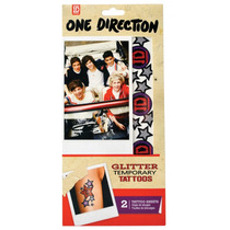 1d Tatuajes Uñas - One Direction Glitter Temporal 20pk