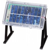 Panel Solar Con Gabinete Y Base