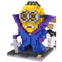 Minion Vampiro Mini Bloques Loz Diamond Blocks 620pcs Regalo