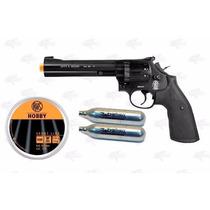 Marcadora Airsoft Co2 Pellets Smith & Wesson 586 Negro .177