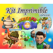 Kit Imprimible Tree Fu Tom - Decoraciones, Cajitas, Fiesta
