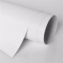 Vinil Fibra Carbono Blanco 3d Libre De Burbujas 1.52 X 1 Mto