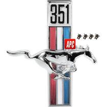 Emblema Salpicadera Derecha 351 Mustang 1967/70 Metal Usa
