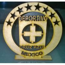 Centro De Mesa Para Sus Fiestas En Mdf Cruz Azul