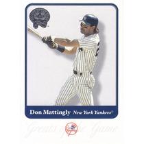 2001 Greats Don Mattingly Yankees
