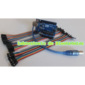 Kit Arduino Uno R3+cable Usb + Cables Dupont Mm, Hh Y Mh 40p