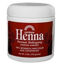 Henna (persa) - Medio Castaño, Caoba De 4 Onzas (paquete De