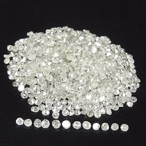 10 Diamantes Naturales 2 Puntos Si2 Color H Redondo .02 Cts
