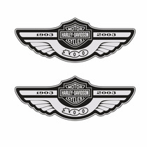 Sticker - Calcomania - Vinil - Logo Harley 100 Años Cromado