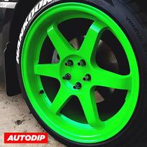 Pintura En Spray Automotriz Autodip Verde Brillante