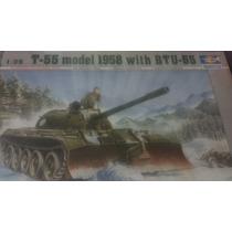 Tanque Ruso T-55 1958 Con Btu-55 Escala 1/35 Trumpeter